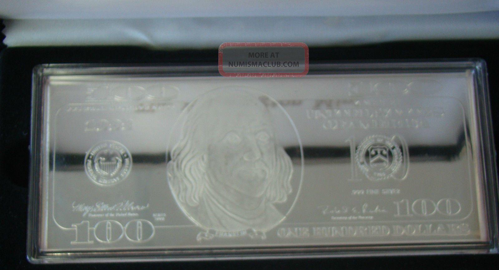 1998 Washington 999 Fine Silver 1 Quarter Pound Proof