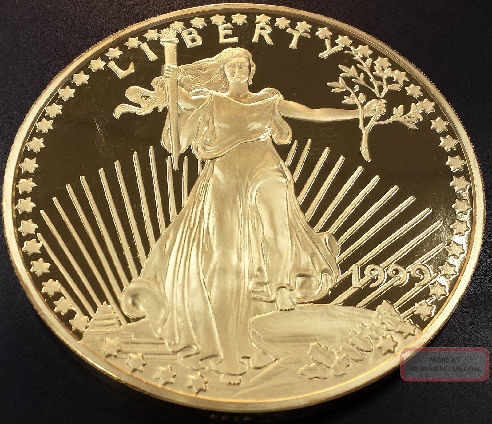 1999 Giant One Pound Golden Eagle Sixteen Troy Ounces 0