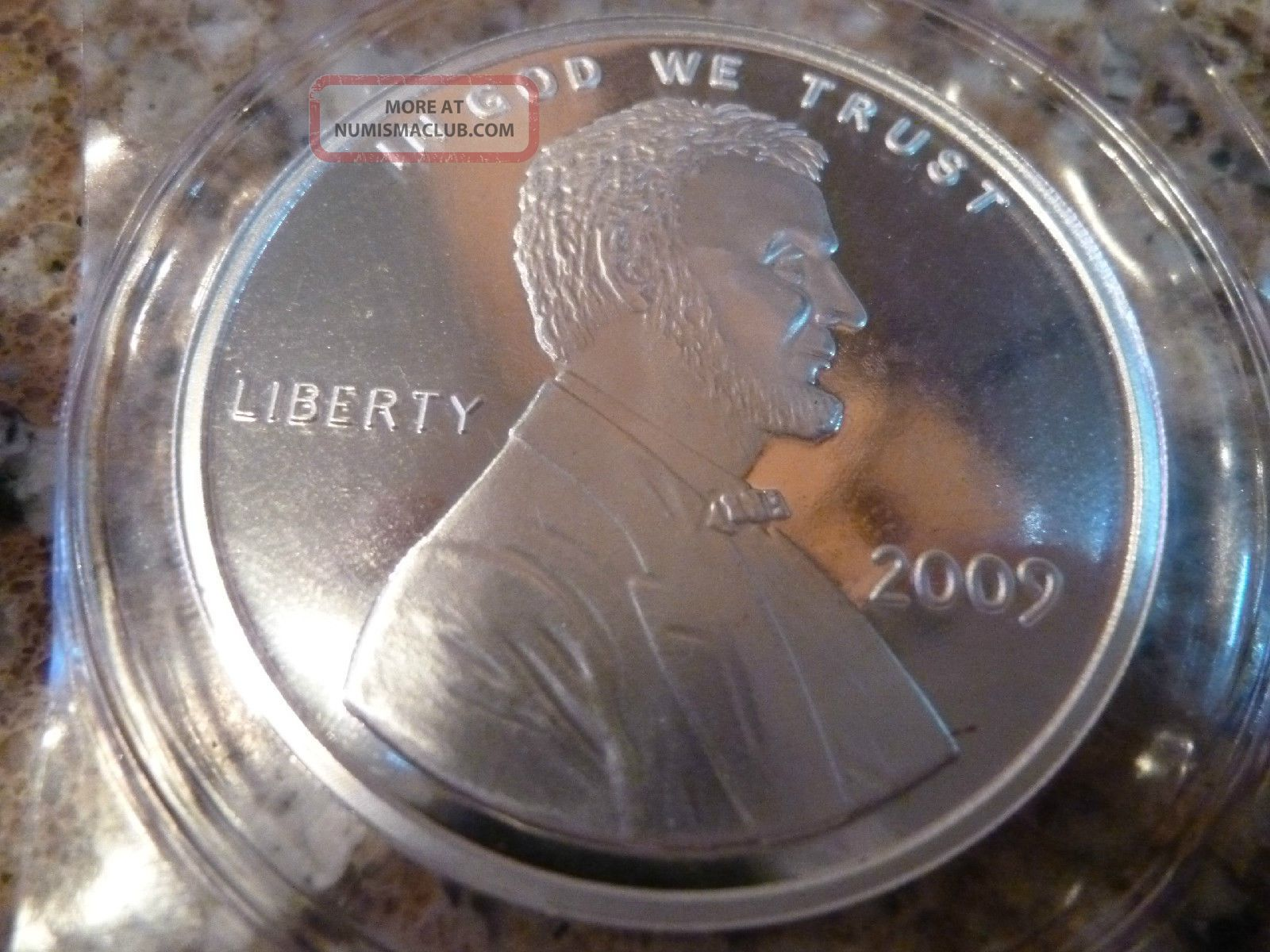 2009 1 Oz 999 Silver Medallion Or Token Coin Lincoln One