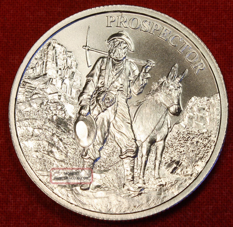 The Prospector Design 1 Oz 999 Silver Round Bullion