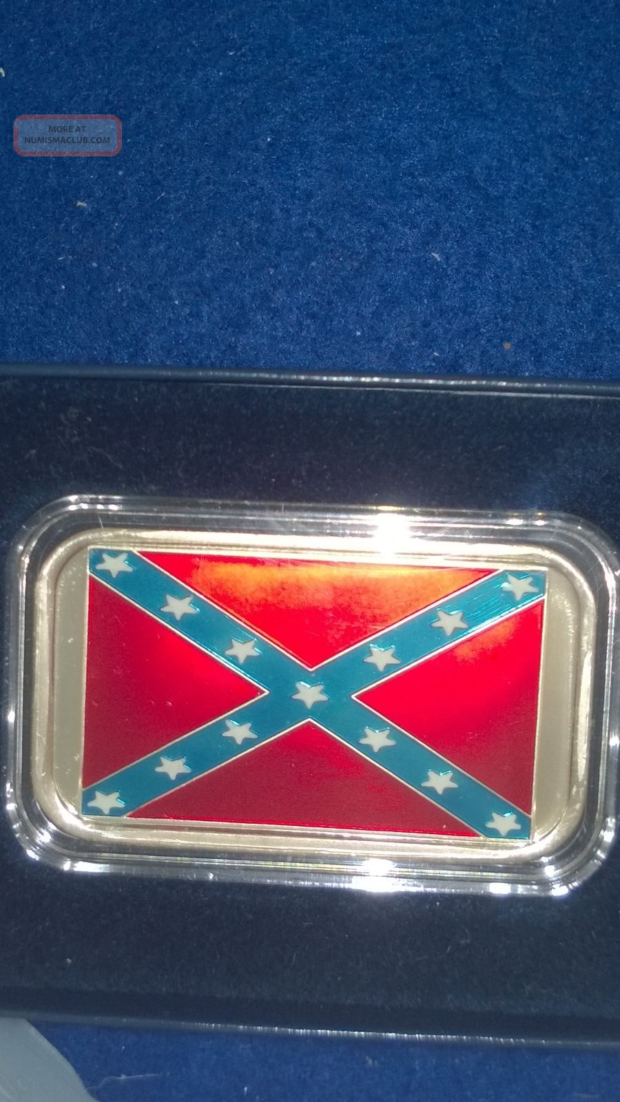 Civil War Confederate Flag Silver Bar