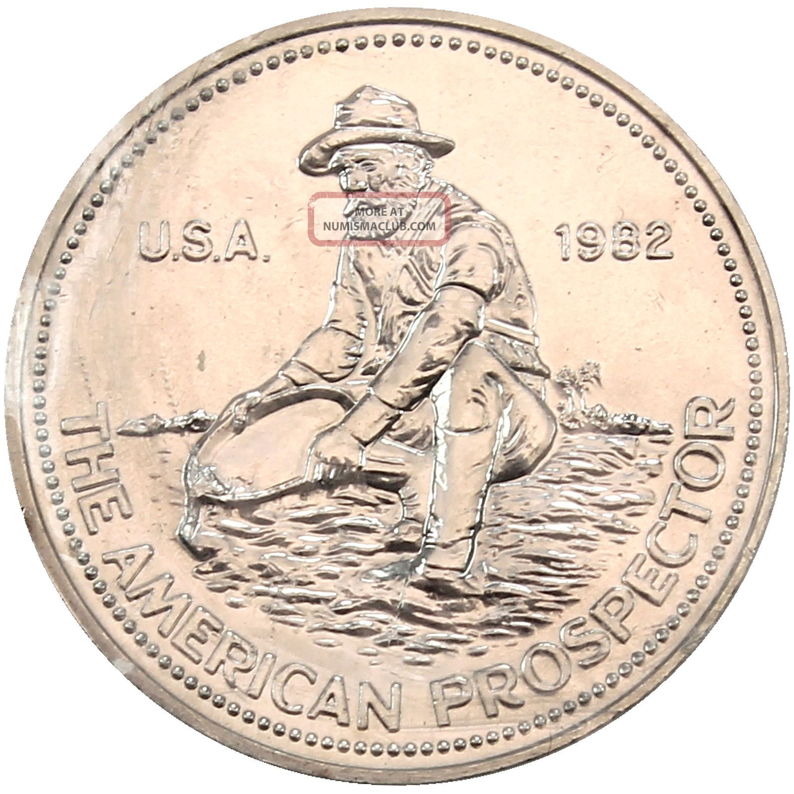 1982 Engelhard American Prospector 1 Troy Oz 999 Fine