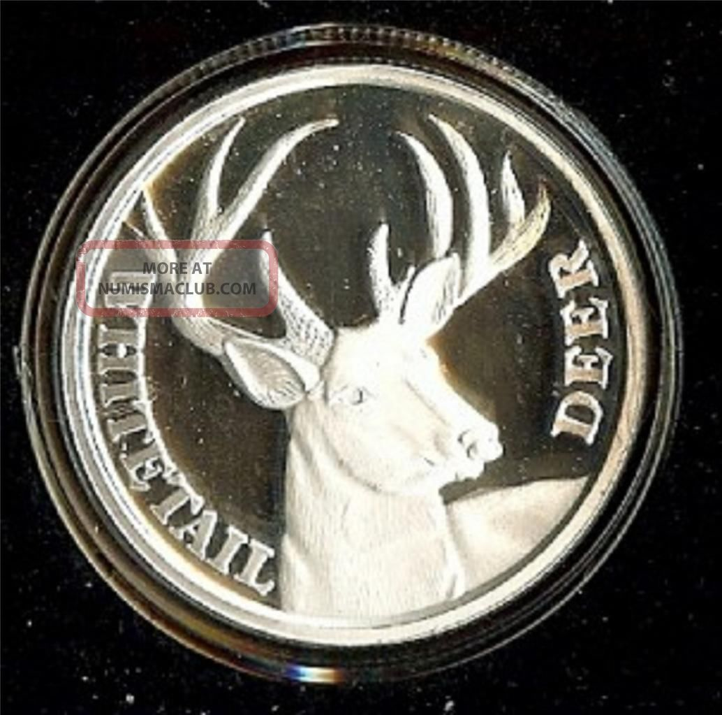 1 Oz Silver Round Deer Whitetail Hunting Seaon Good Luck