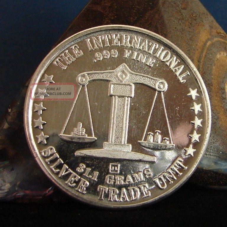 1 Oz Silver Trade Unit Troy Ounce 999 Fine Silver Round