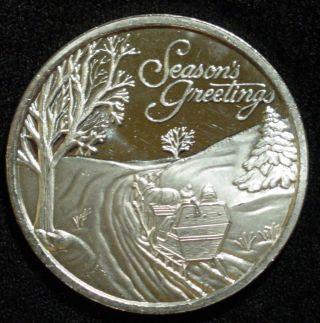 One Troy Oz 999 Silver 1998 Christmas Coin Seasons