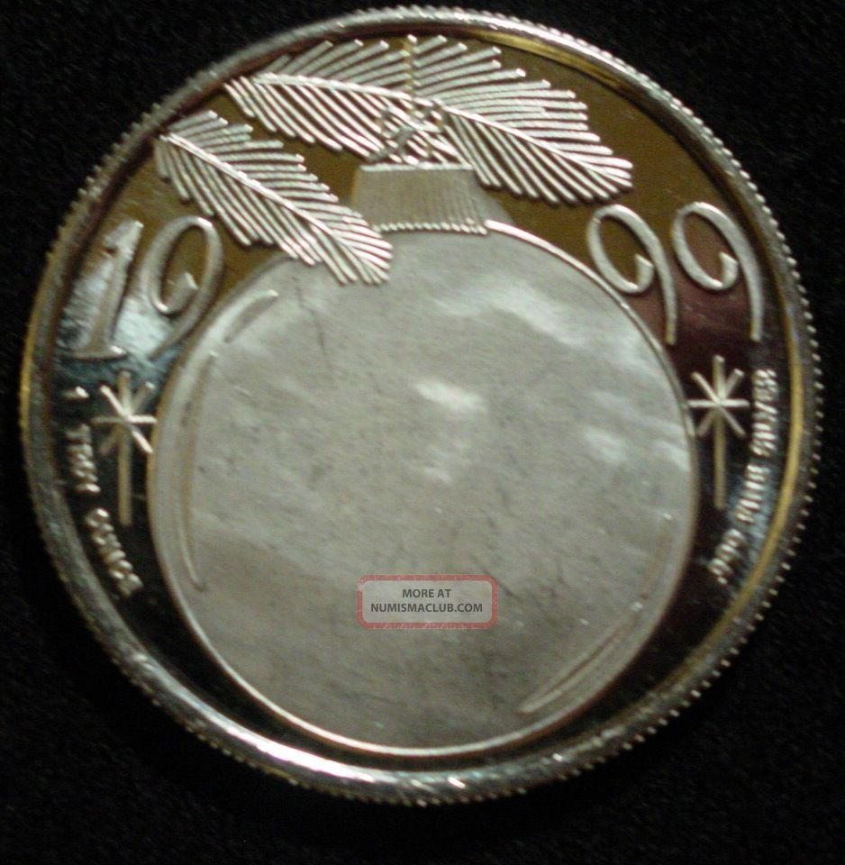 Silver Coin From 1999 Merry Christmas One Troy Oz 999