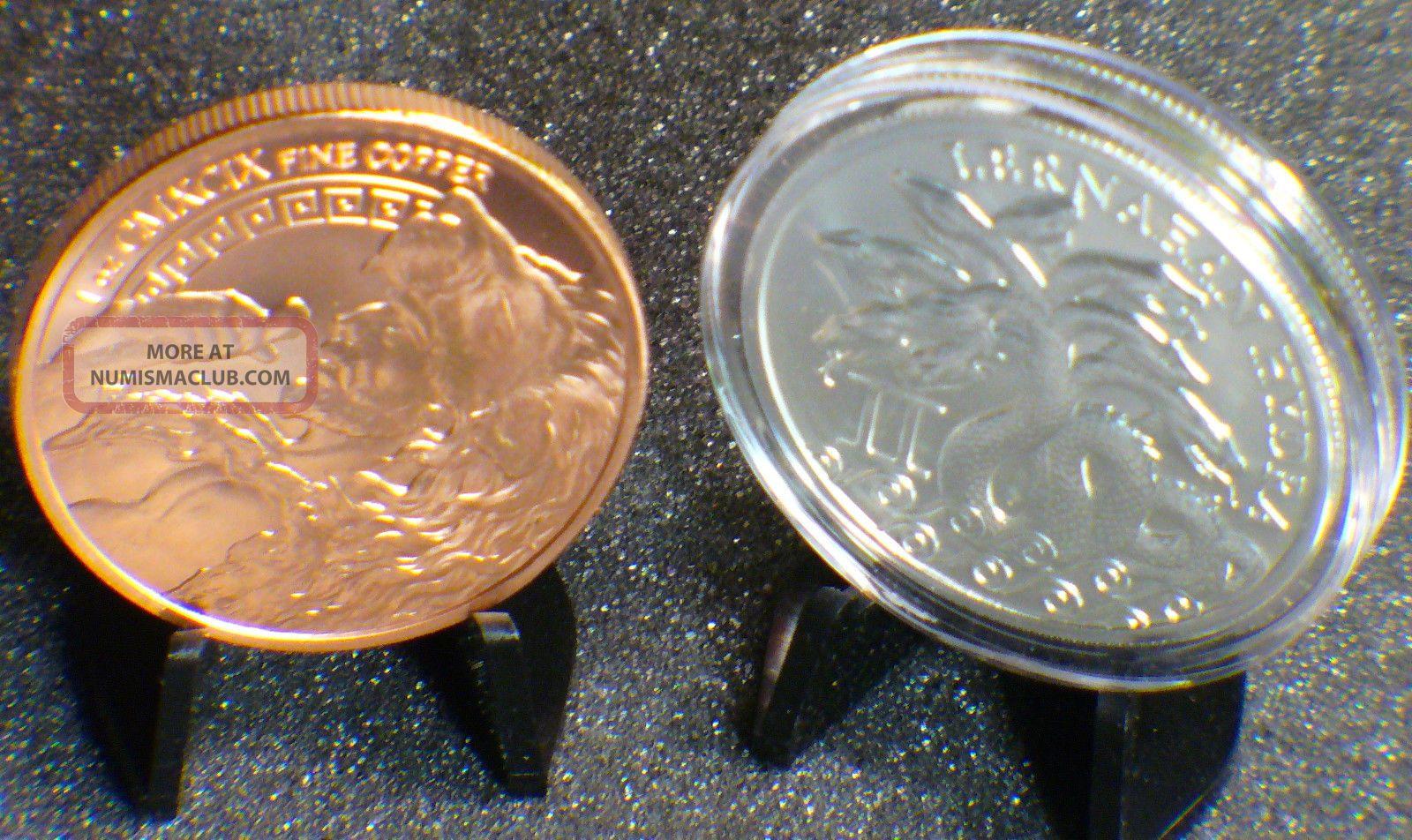 Lernaean Hydra 1 Troy Oz Silver Amp 1 Copper In Capsules