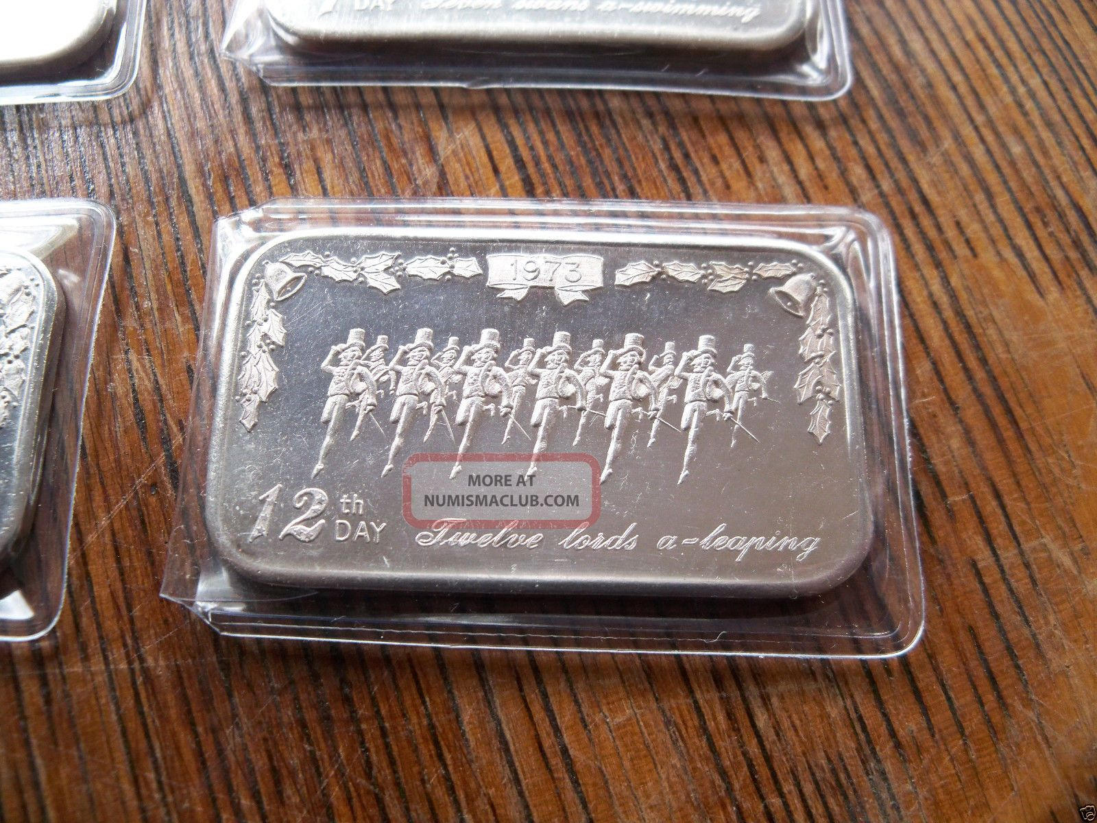 5 1 Oz Silver Bar 999 Fine Silver 12 Days Of