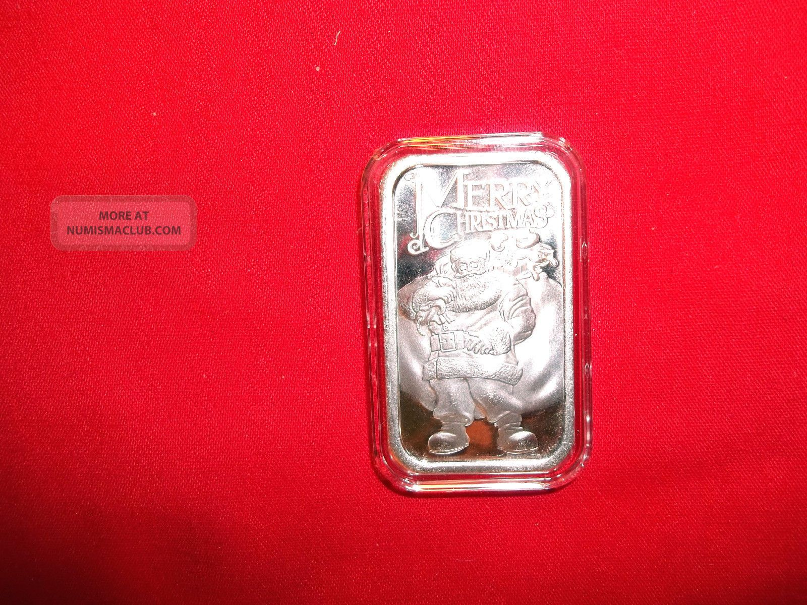 One Ounce 999 Fine Silver Bar Silvertowne Santa