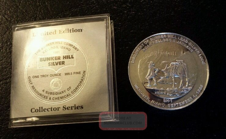 Discovery Of Bunker Hill Lead Silver Lode Idaho 1 Oz