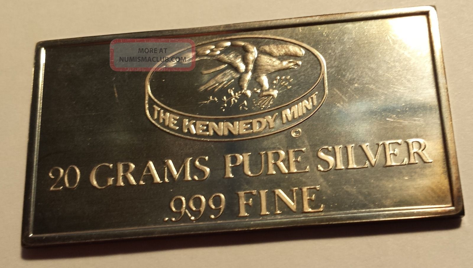 Kennedy 20 Grams Pure Silver 999 Fine 4 Flags Silver Bar 20g