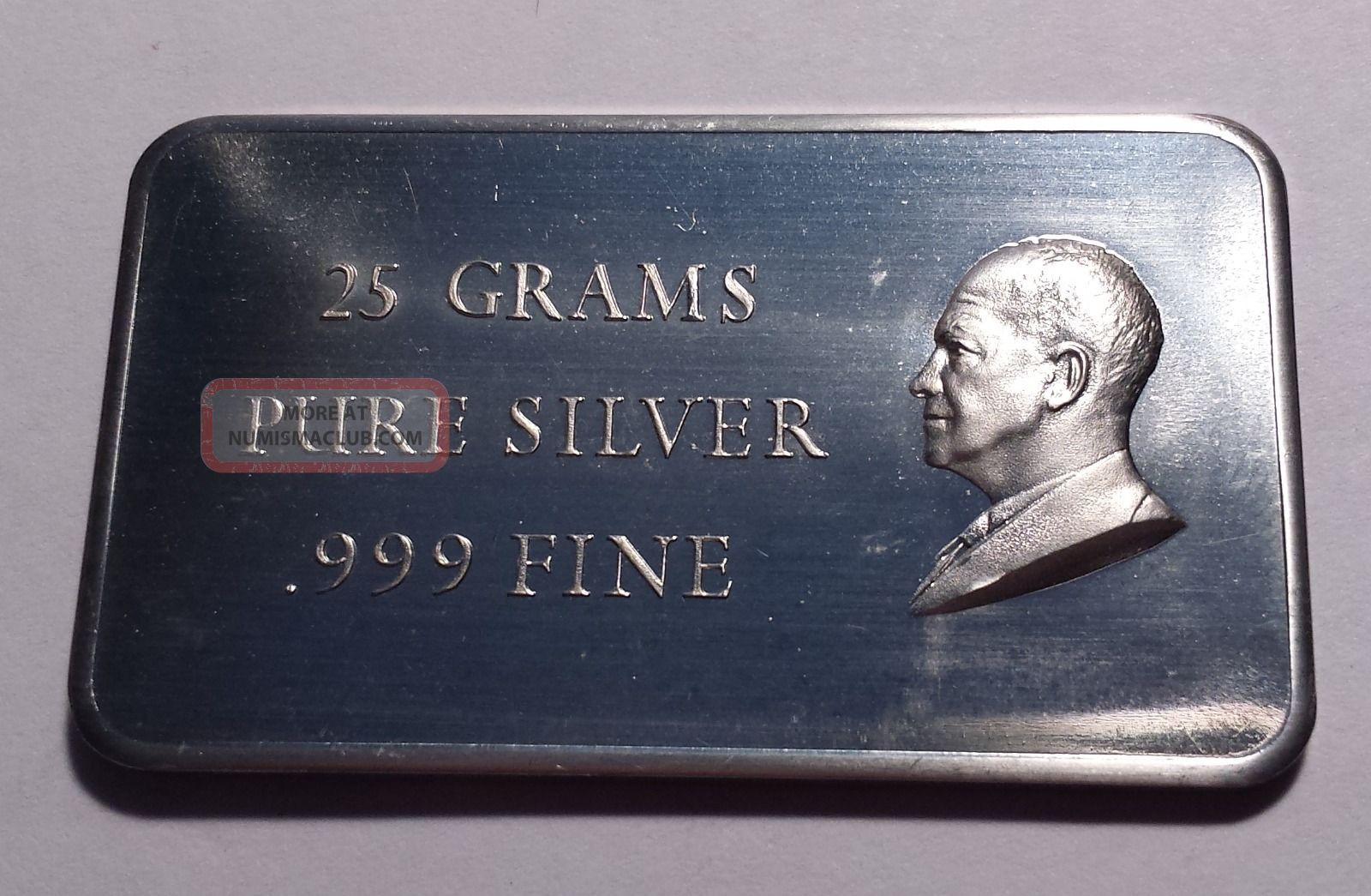 25 Grams Pure Silver 999 Fine Eisenhower Silver Bar 25g