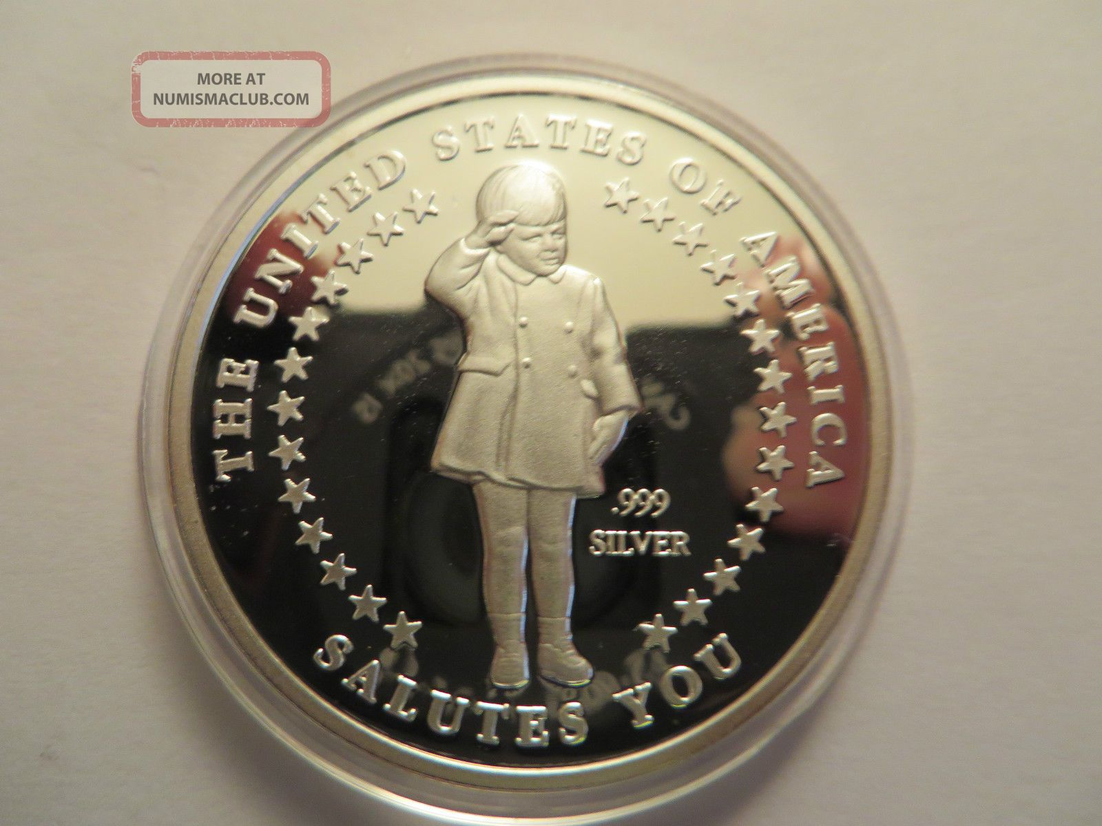 1 Oz Silver Art Round 999 Fine John F Kennedy Jr 1960 1999