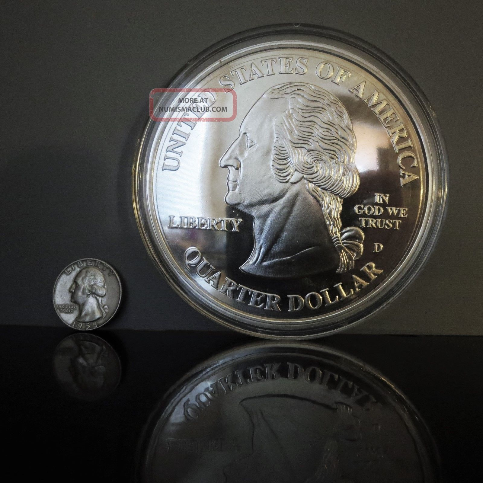 4 Oz Silver Proof Round 1999 5 State Quarters