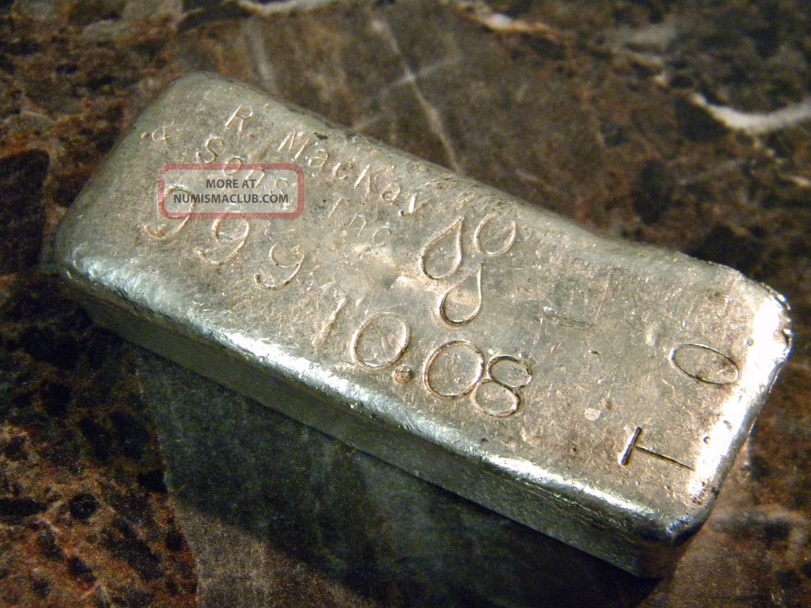 R Mackay Amp Son S 70 S Old Pour Loaf Silver Bar 10 08