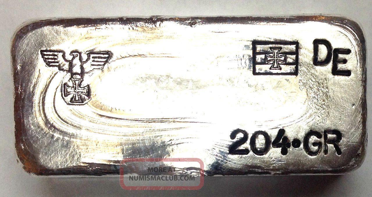 200 Gram Silver German Eagle Iron Cross Loaf Bar Ww1 Style