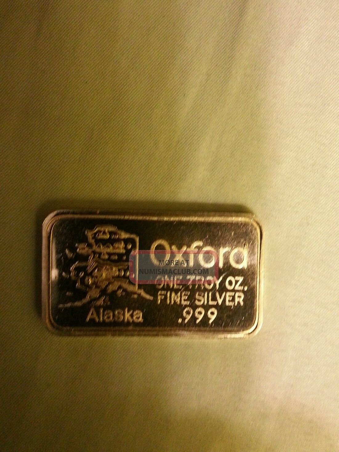 1 Troy Oz 0 999 Fine Silver Bar Oxford Alaska Big