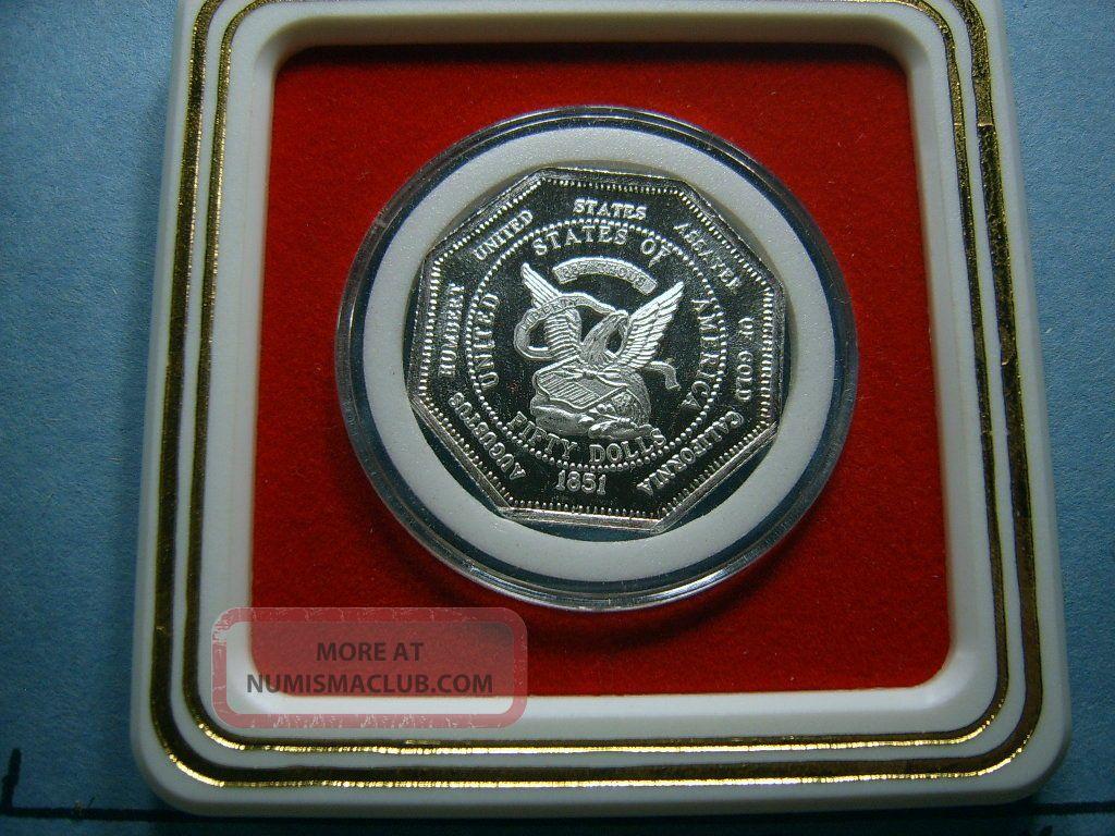 Humbert Moffat Octagon Fifty Dollar Slug 1851 Version 999