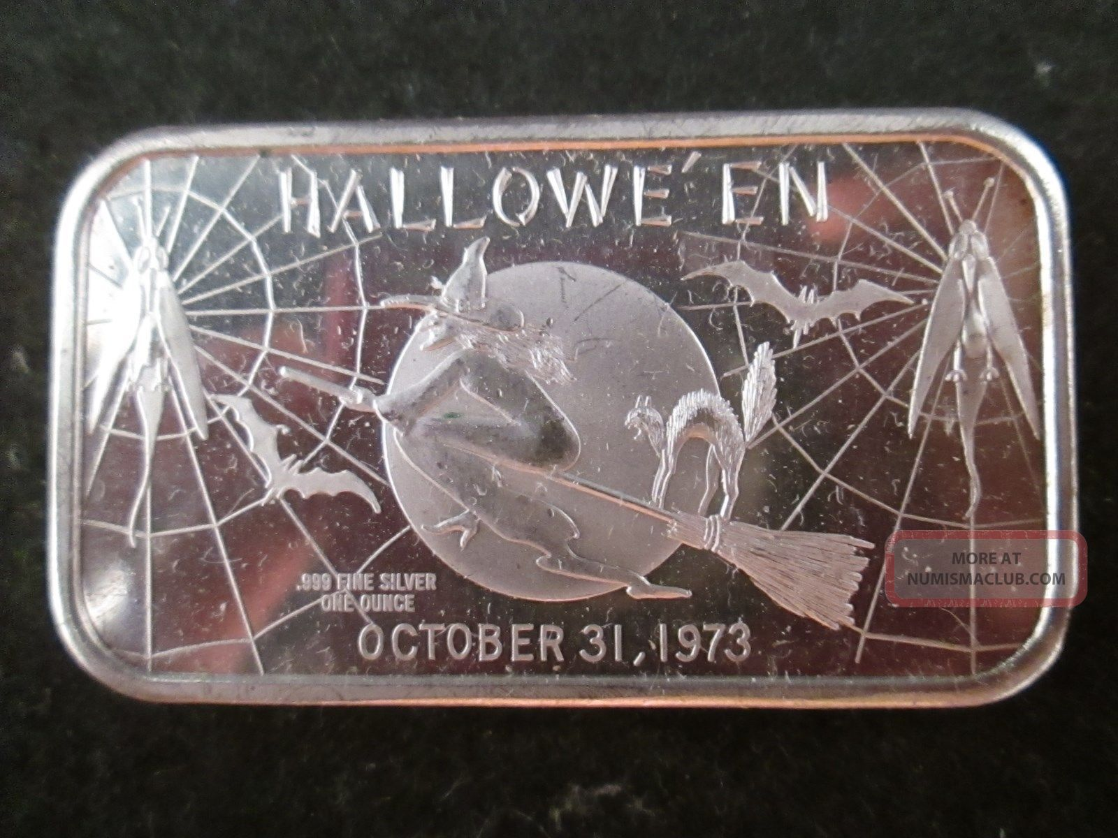 October 31 1973 1 Oz Halloween Quot Witch Quot 999 Silver 1