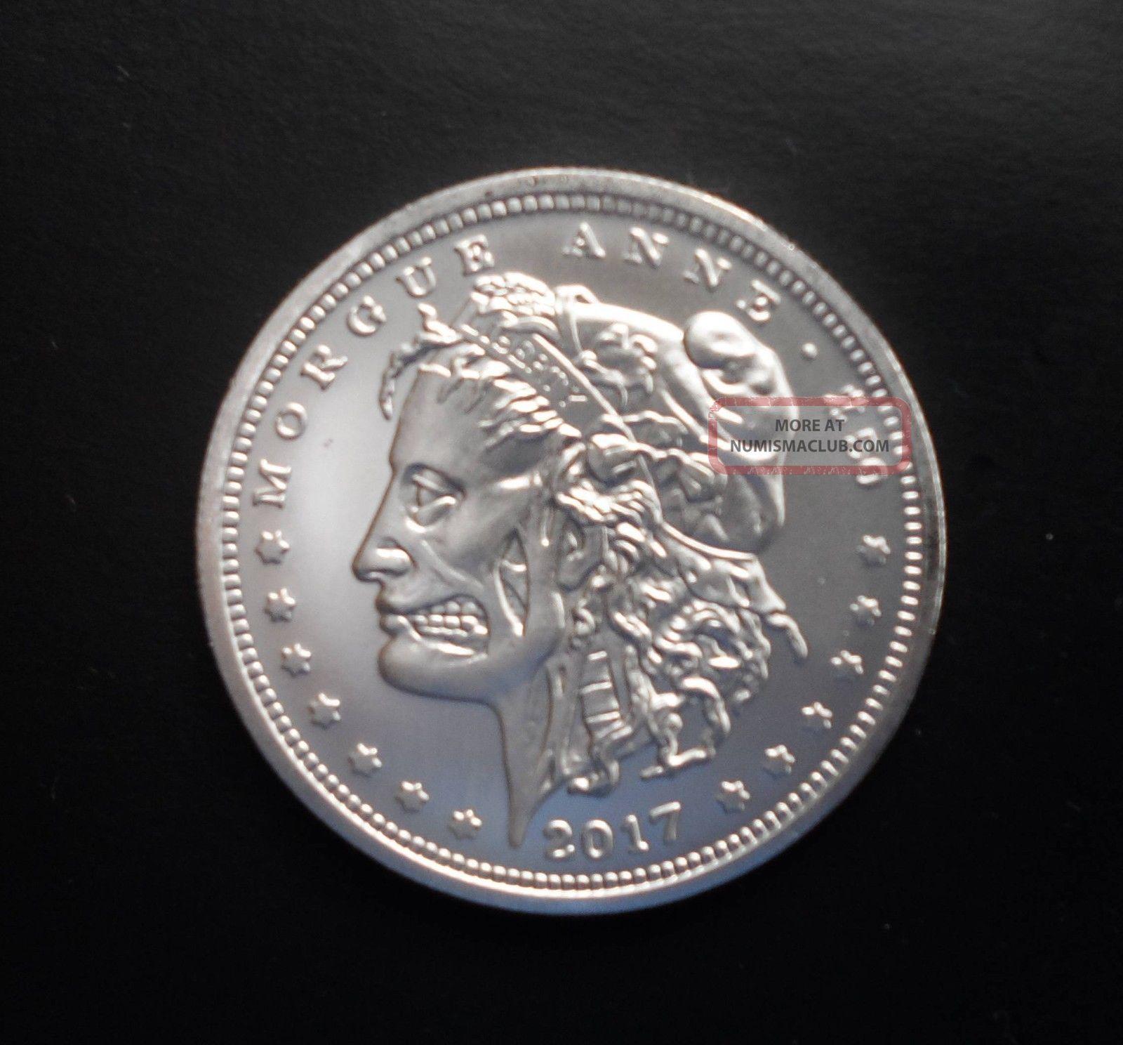 Zombie Silver Dollar Morgue Anne 1 Ounce Undead Morgan