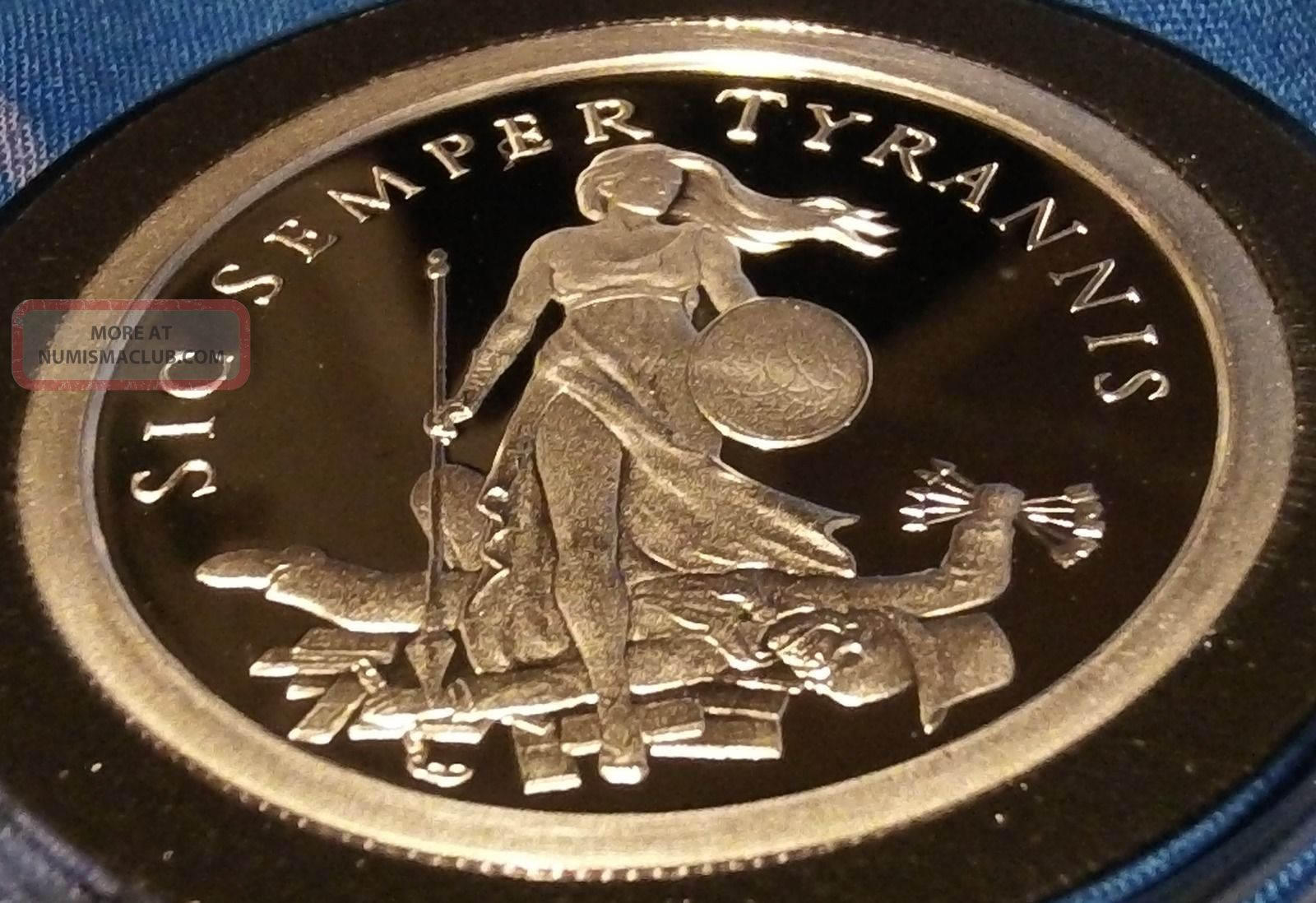2013 Proof Sic Semper Tyrannis Medallion By Silver Bullet