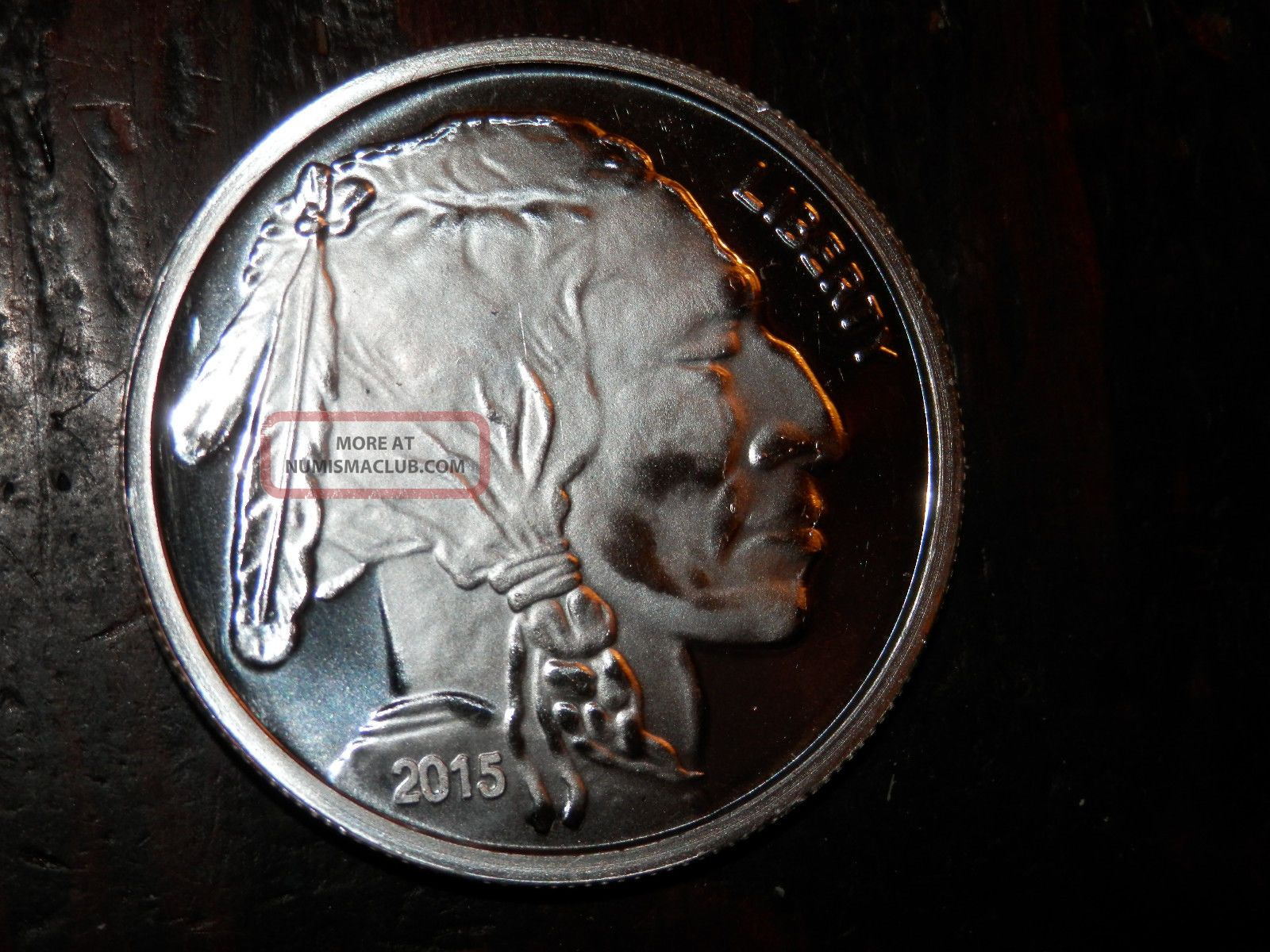 2015 Indian Head And Buffalo Silver Coin 1 Oz 999 Fine