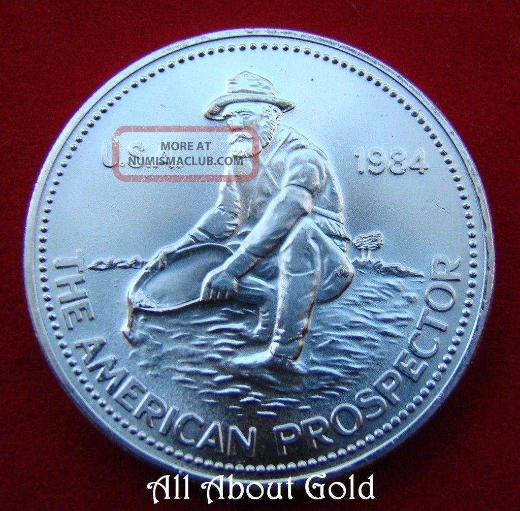 Solid Silver Round 1 Troy Oz 1984 Engelhard American Gold