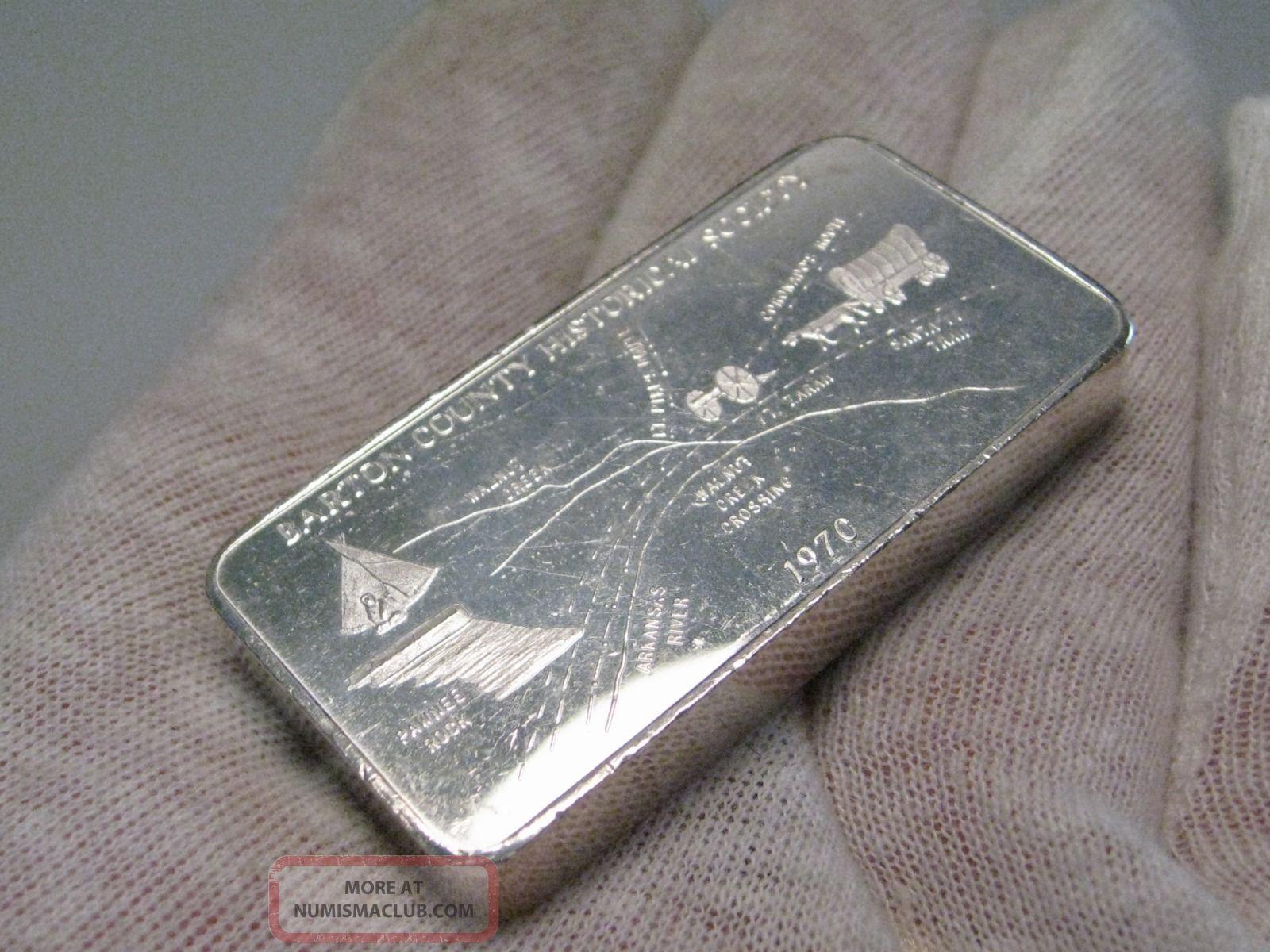 Rare 1970 Foster Wallawalla Wa 3 Tr Oz 999 Silver Bar
