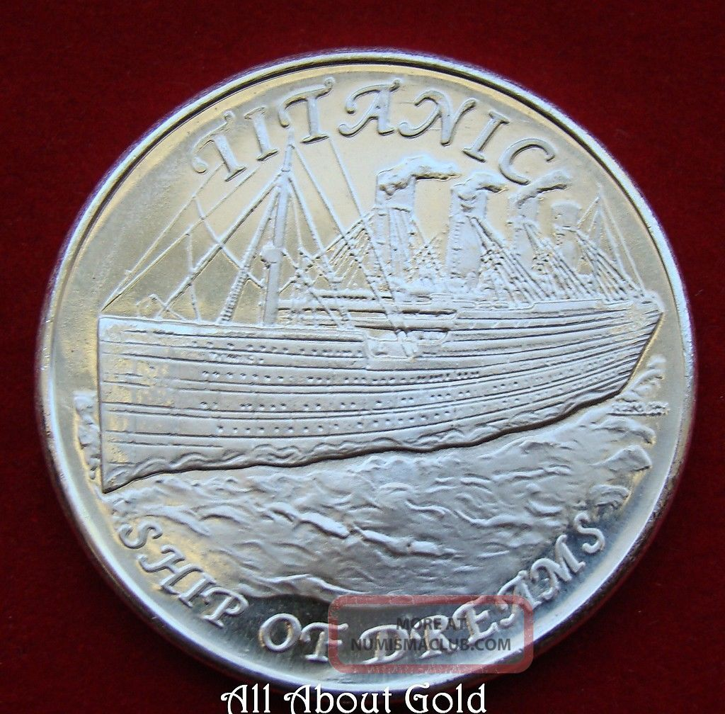 Solid Silver Round 1 Troy Oz Titanic Ship Of Dreams Maiden