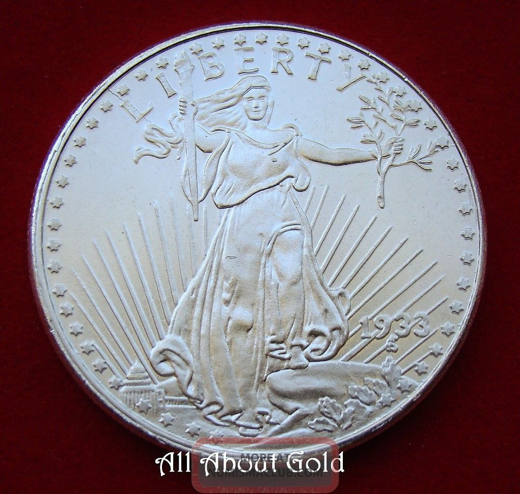 Silver Round 1 Troy Ounce Saint Gaudens Lady Liberty