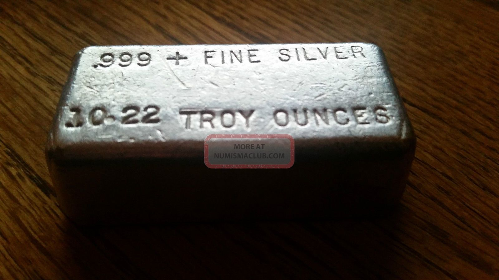 10 Oz Silver Hallmark Precious Metals Poured Silver Bar