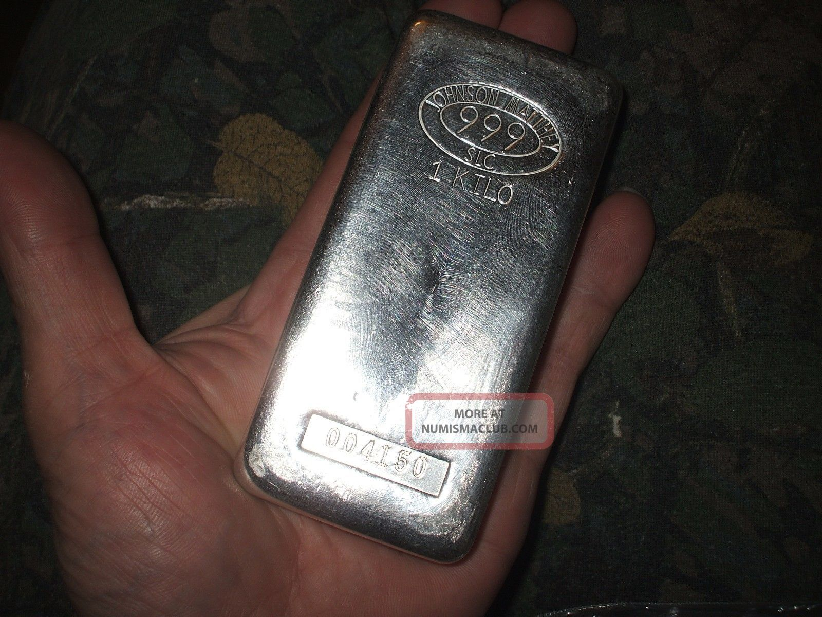 Johnson Matthey 1 Kilo 999 Fine Silver Bar
