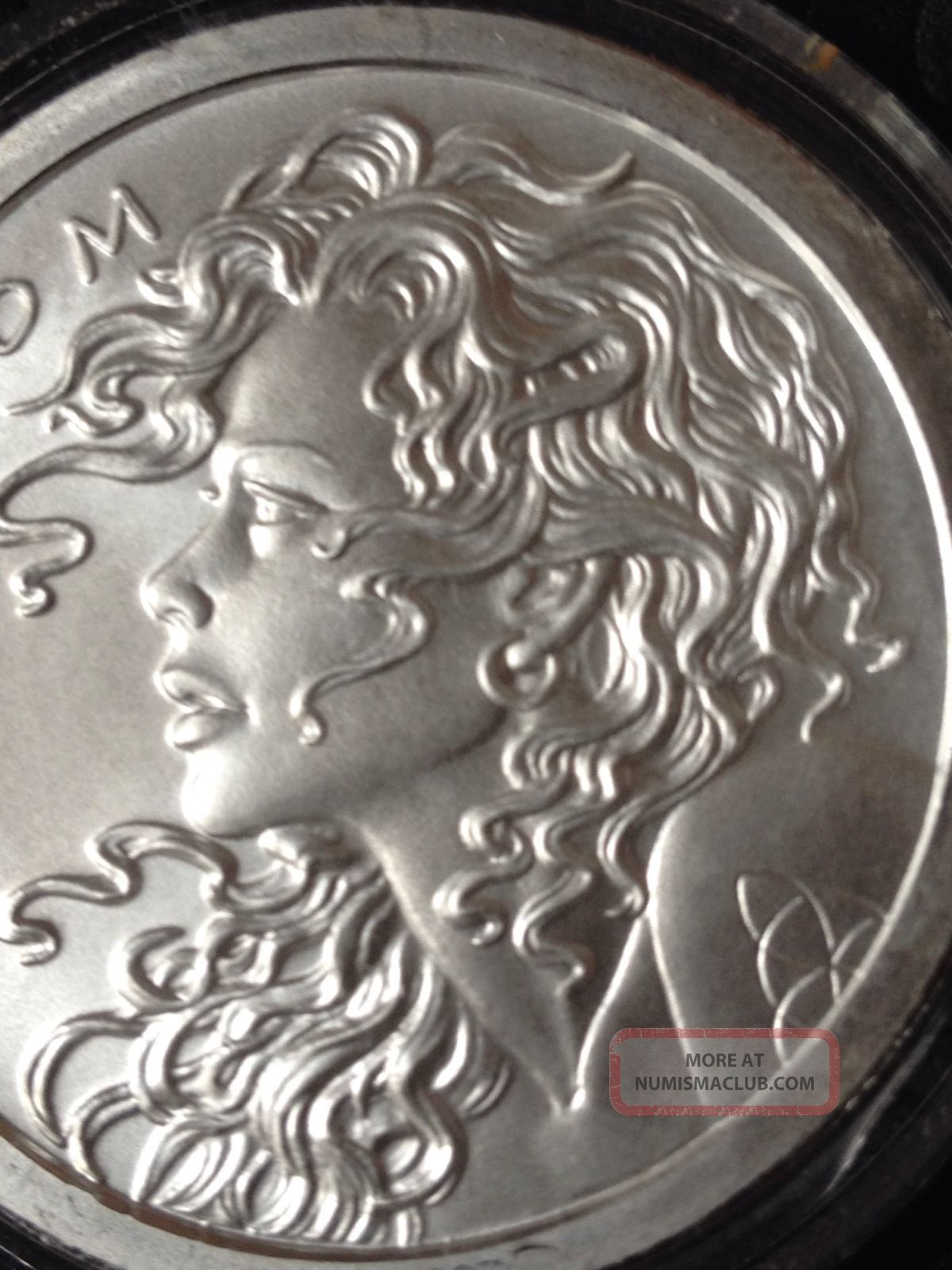 1 Oz Silver Coin Freedom Girl Debt Amp Death Sbss Very Rare