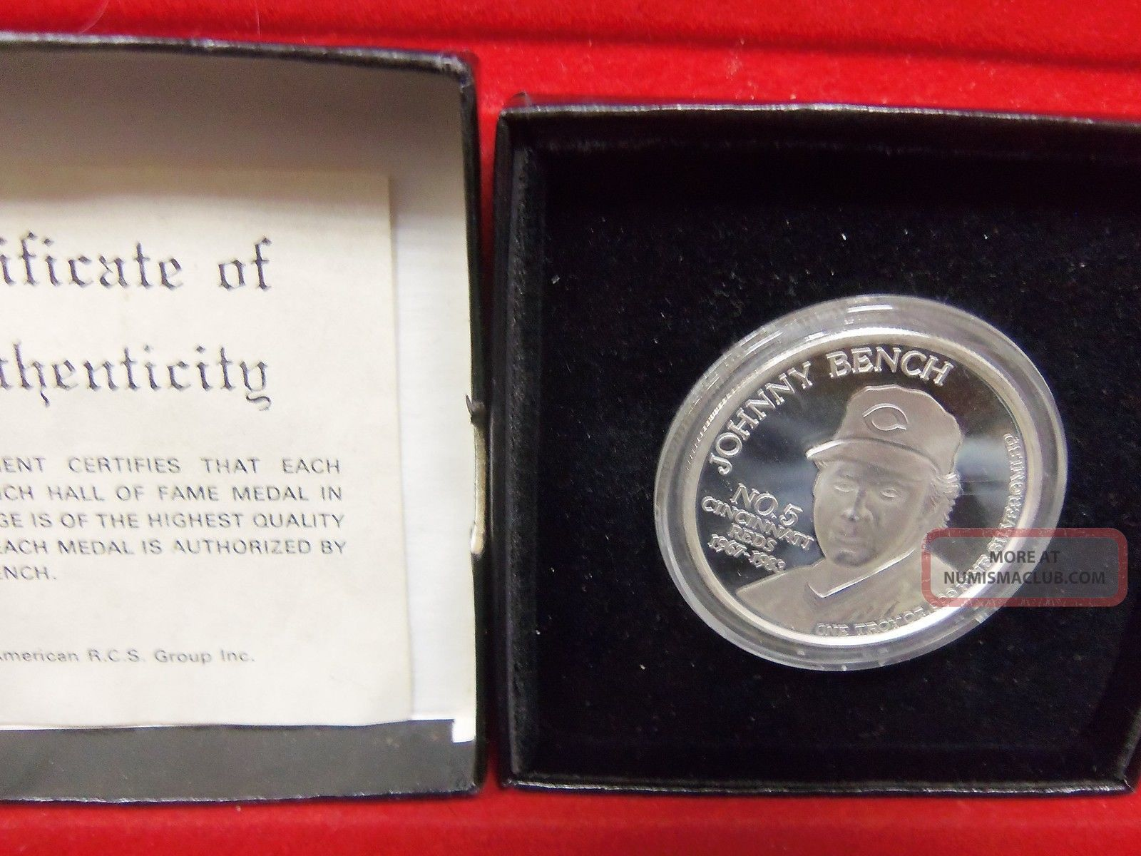 Johnny Bench Limited Edition 1 Ounce 999 Silver Coin