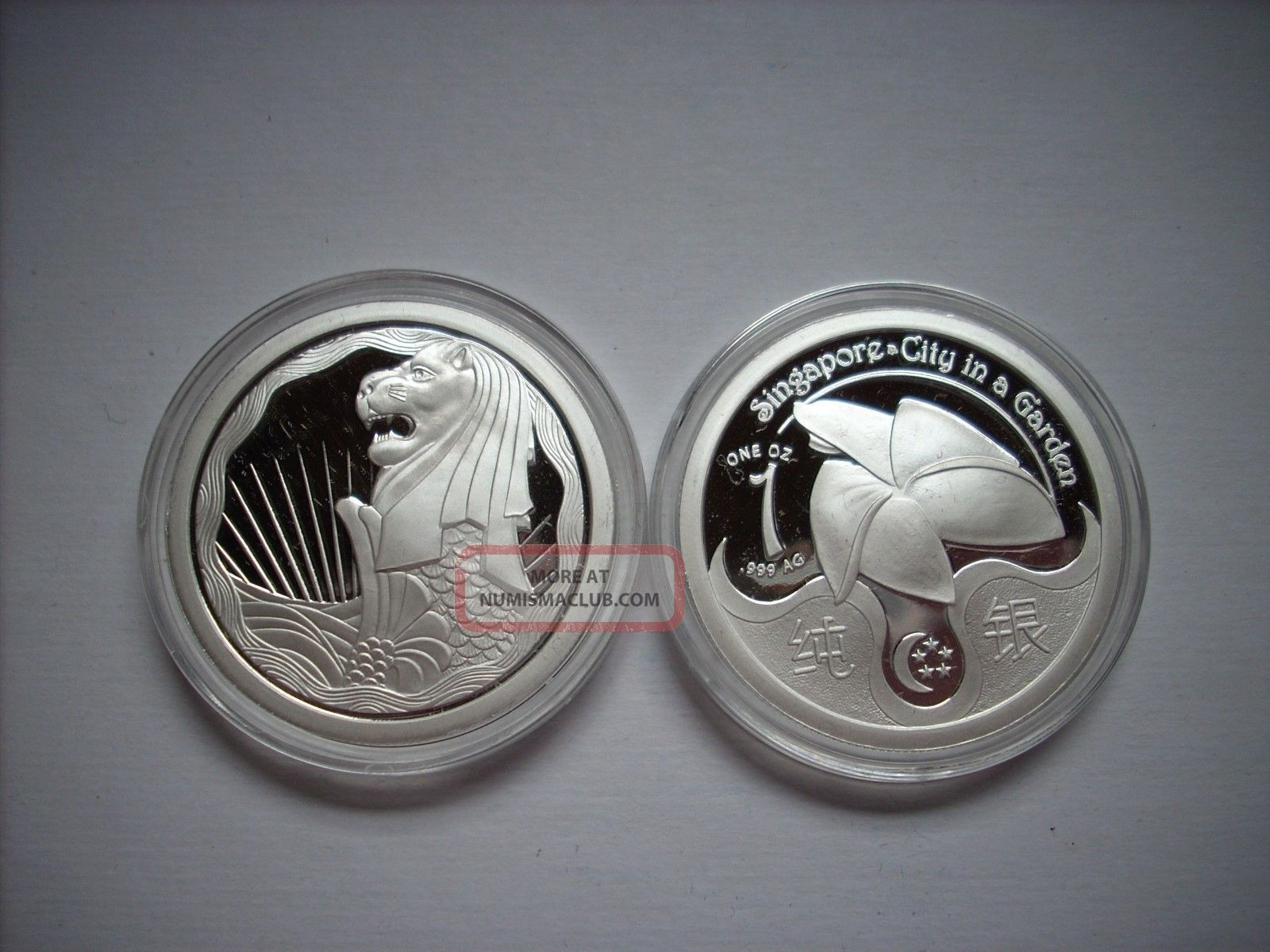 1 Oz Silver Coin Merlion Proof Like 1 Ounce 999 Fine