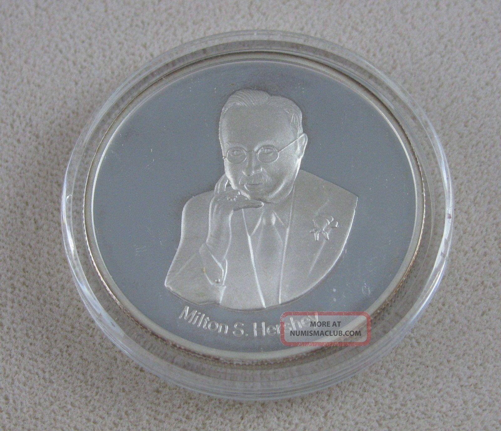 Milton S Hershey Chocolate 999 Silver Round Employee