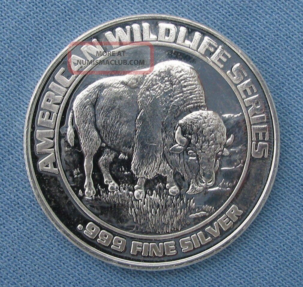 1993 Foxwoods Casino Buffalo Bingo Token Strike Wildlife