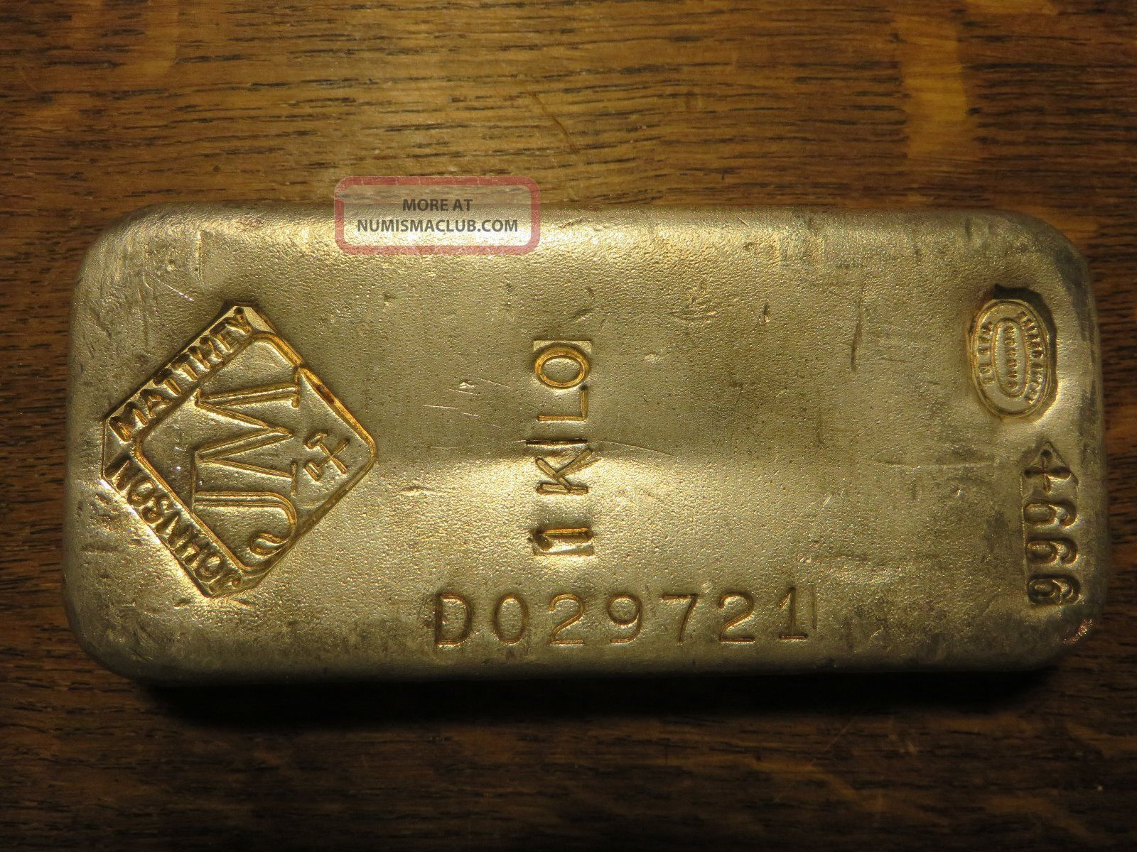 1 Kilo 32 15 Oz Johnson Matthey Silver Bar Vintage