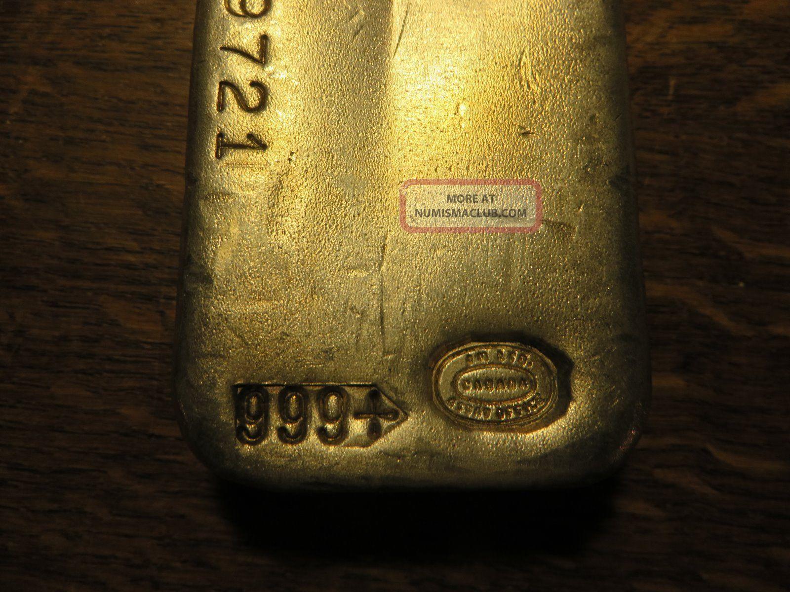 1 Kilo 32 15 Oz Johnson Matthey Silver Bar Vintage