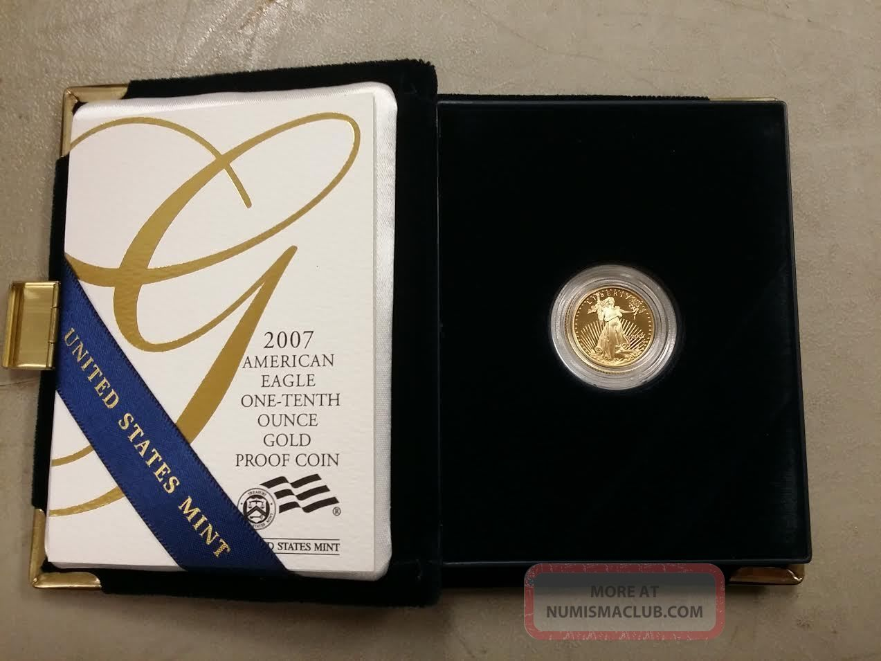 2007 5 American Eagle One Tenth Ounce Proof Gold
