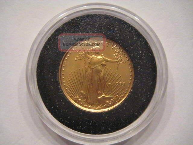 1999 1/10 Oz American Gold Eagle Uncirculated Gold photo