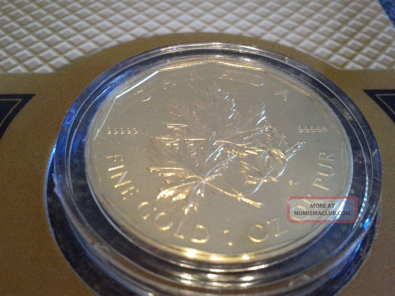 2007 Canada Maple Leaf 1oz 99999 Fine Gold Coin 1 Oz 200