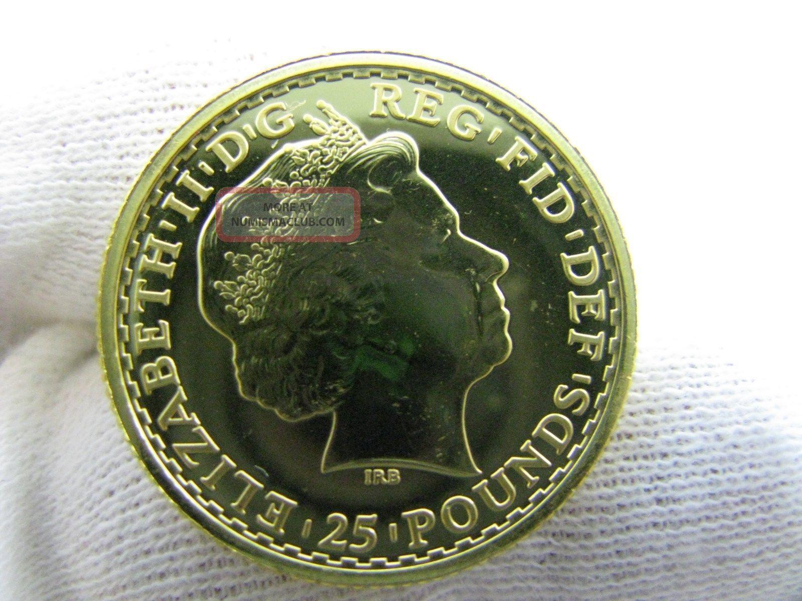 2014 1 4 Oz Gold Britannia Gold Coin 25 Oz 999 9 25 Pounds Royal Uk