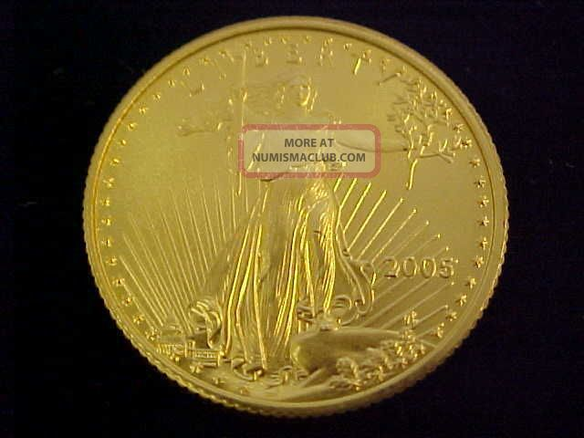 2005 American Eagle 1/4oz Fine Gold $10 Gold Coin Bullion Look Gold photo