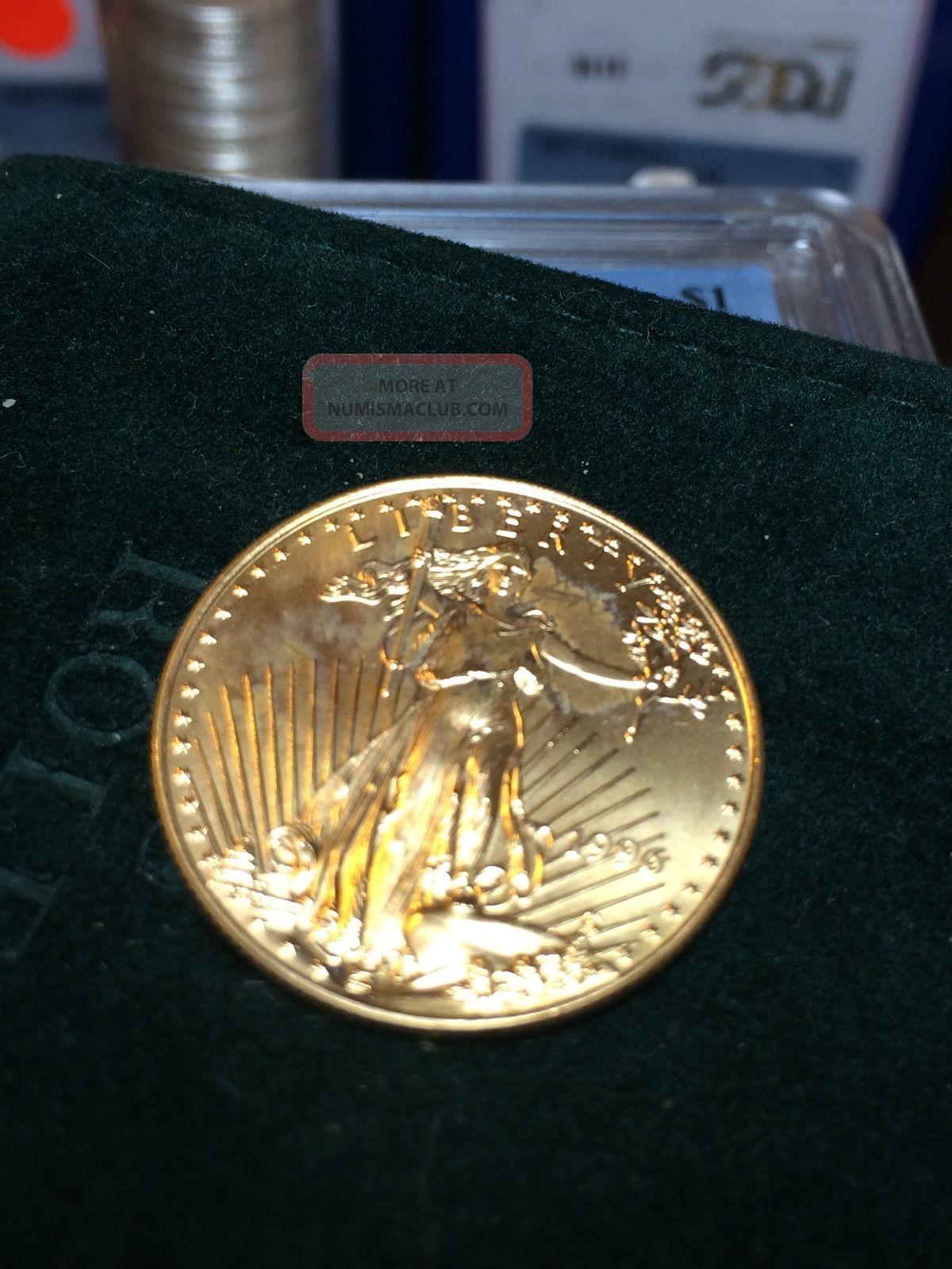1996 American Eagle 1 2oz 999 Fine 25 Dollar Gold Coin