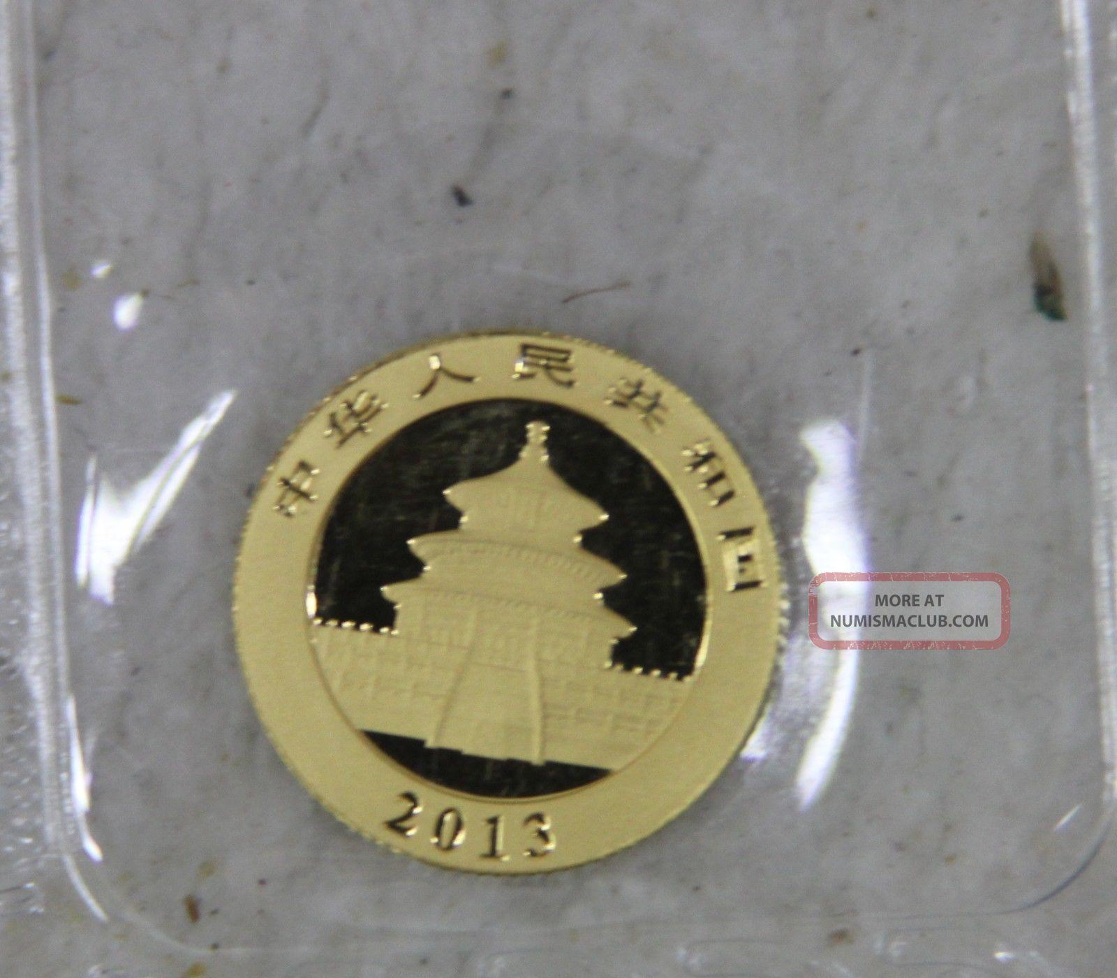 2013 1 10 Oz 50 Yuan Chinese Gold Panda 999 Fine Gold Coin China Bullion