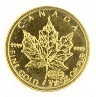 2000 $5 Canadian Maple Leaf 1/10 Oz.  9999 Fine Gold Coin Bullion Uncirculated photo