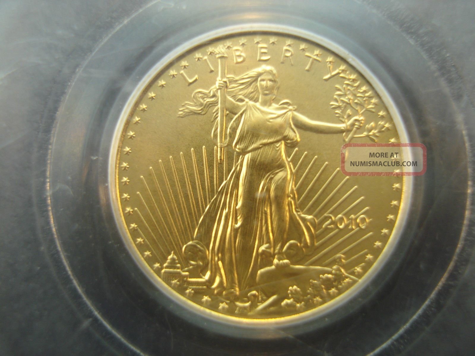 2010 American Gold Eagle 1//10 oz $5 PCGS MS70 First Strike
