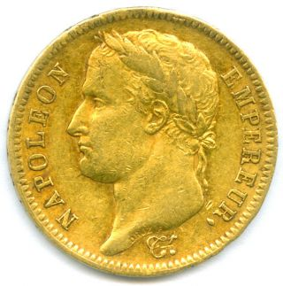 1812 - A (paris) Gold 40 Francs Of Napoleon Bonaparte photo