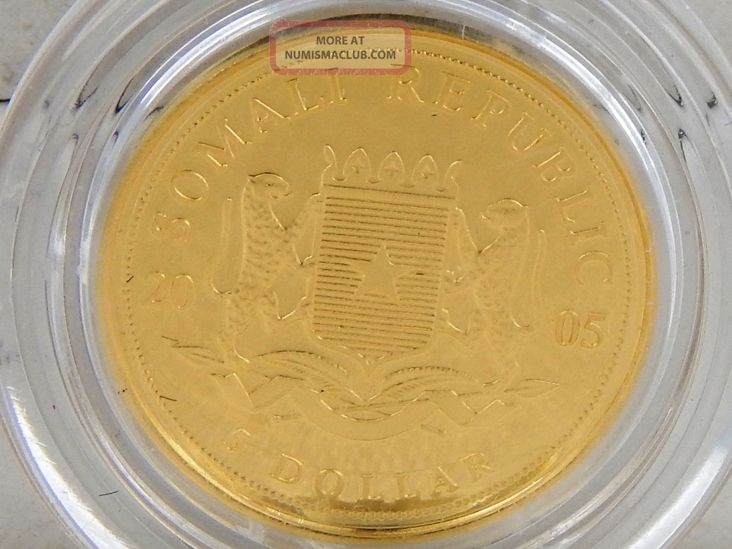 2005 Somali World Youth Day Pope Benedict Xvi 999 Gold 5 Proof Coin 1 25th Oz